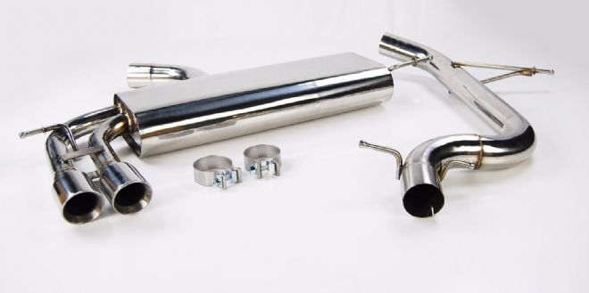 STAINLESS STEEL NON RES EXHAUST SYSTEM CAT  BACK FOR GOLF MK5 GTI 2.0 TFSI